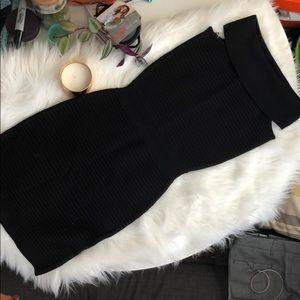 Plastic Island Bodycon Little Black Dress - NWT